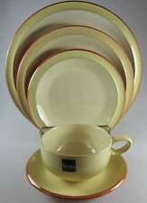 Denby Fire Yellow 5 Piece Place Setting NEW
