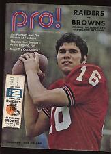 October 4th 1971 NFL Oakland Raiders & Cleveland Browns Program + Ticket Stub