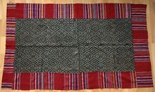 Antique Laos Tai Neua graphic indigo textile