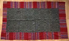 Antique LAOS Tai Neua graphic indigo textile
