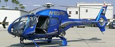 EC-120 Airborne Law Enforcement Eurocopter Helicopter Mahogany Wood Model Large