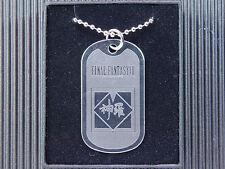 Final Fantasy VII 7 FF7 ShinRa Company Dog Tag Necklace