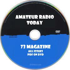 73 Magazine Amateur Radio Today All Issues in PDF on DVD- Crystal Ham Radio