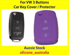 New Purple Silicone CarKey Cover for VW Volkswagen Golf Jetta Passat Polo Tiguan