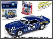 Johnny Lightning 1/64th Diecast Car '67 Camaro Diorama Exterior Gas Station