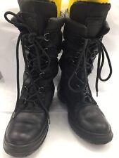 LADIES COACH SAGE LACE-UP WINTER BOOT SIZE 7.5M~$195~COLOR BLACK/BLACK