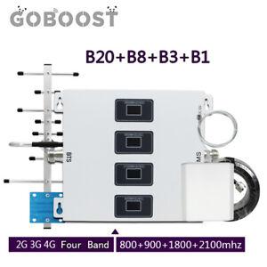Four Band 800 900 1800 2100mhz Mobile 4G LTE B20 B1 B3 B8 Handy-Signalverstärker