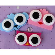 Cute 3D Big Eye Owl Frog Animal Shape Contact Lens Case Holder Soak Storage Box