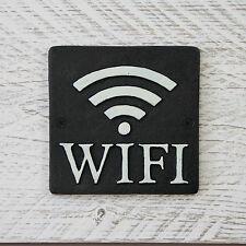 NOIR FONTE SIGNE métal WIFI INTERNET plaque pubs, Cafés, Barres, Restaurants