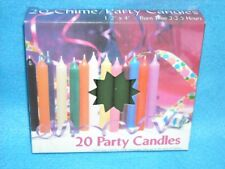 "Angel Chime Party Candles, 1/2"" Diameter x 4"" Tall, 20 in New Box, Pine Green"
