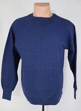 Vtg 60s-70s Thin Fabric Worn Faded Blank Heather Blue Raglan Sweatshirt Sports