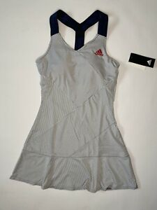 ADIDAS PRIMEBLUE Y - TENNIS DRESS STRIPES WHITE BLUE GQ8928 - S UK 8/10
