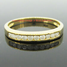 Real Genuine Natural Diamond Solid 9ct Yellow Gold Engagement Wedding Ring Band