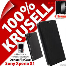 Krusell Donso Synthetic Leather Flip Case Cover Wallet for Sony Xperia Z1