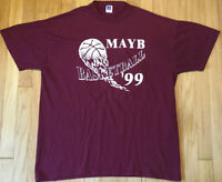 Vintage 1999 Russell Athletic basketball t shirt L maroon 90s sports school