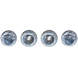 "5-3/4"" Halogen Sealed Beam Glass Hi & Low Headlight Bulbs H5001 & H5006 Set Of 4"