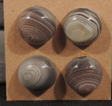 Botswana Agate Cabochon 15mm with 7mm dome set of 4 (13179)
