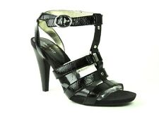 Nine West Women's Stellen Caged High Heel Sandals Black Patent Size 10.5 M