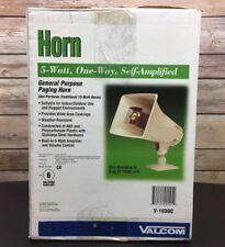 Valcom Vc-V-1030C Paging Horn 5 Watts 1 Way - Beige