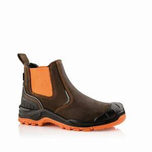 Buckler BuckzViz BVIZ3 OR/BRN Waterproof Non-Metallic Dealer Safety Work Boots