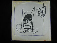 BOB KANE ORIGINAL AUTHENTIC BATMAN SIGNED DATED DRAWING ART 1978 JUSTICE LEAGUE