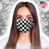 Checkered Face,Mouth mask -Racing Car Flag - Washable and Reusable-Free shipping
