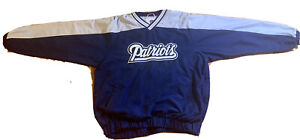 Vintage New England Patriots NFL Size L Nylon Pullover Windbreaker VTG Script 🔥