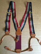 Trafalgar Silk Stripe Suspenders England Pre-owned One Size