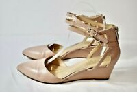 Franco Sarto Beige Leather Women's Wedge Pointed Toe Shoes Size 8M On Sale