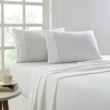 175 GSM Egyptian Cotton Flannelette 4 Piece Sheet Sets Queen White