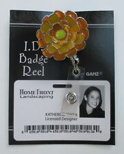 V Yellow flower FALL FLOWERS CLIP ON ID BADGE HOLDER REEL retractable Ganz
