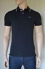 Nueva Abercrombie & Fitch A&F con el logotipo clásico con punta colar Camisa Polo Negro S