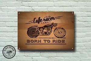 Cafe Racer Metal Sign, Motorcycle, Motorbike, Biker, Vintage, Advertising, 944