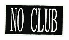 NO CLUB  F.T.W BIKER ANARCHY GANG Independent Iron on Motorcycle
