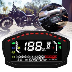 UNIVERSAL CAR MOTORCYCLE DIGITAL LCD REFIT ODOMETER SPEEDOMETER TACHOMETER GAUGE