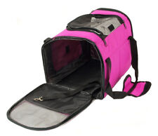 Pet Bag - Portable Collapsable Foldable Pink Kennel Dog Cat Carrier Travel