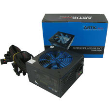 QUIET ARTIC BLUE 850W ATX PSU 8 PIN - MOLEX -PCI-E & 120mm BLUE FAN POWER SUPPLY