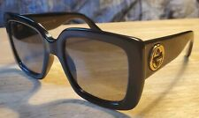 Authentic Gucci GG_0141S_001 Black Plastic Fashion Unisex Sunglasses Black Lens