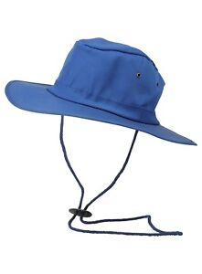Mens Wide Brim Sun Hat One Size Chin Strap New 58-59cm Summer Beach Holiday Vent