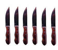 6 Pc Tramontina Porterhouse Steak Knives Set Stainless Steel Knife Brand New