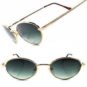 Classic Indie Deadstock 90s Gold Mens Womens True Vintage Round Oval Sunglasses
