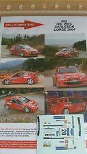 DECALS 1/24 REF 885 PEUGEOT 206 WRC CARLSSON RALLYE TOUR DE CORSE 2004 RALLY