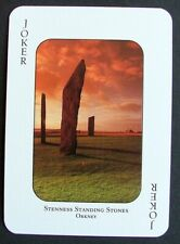 1 x Joker playing card single swap Orkney Stenness Standing Stones AT675