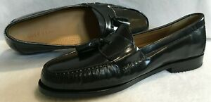 Cole Haan Black Slip On Pinch Tassel Loafer  Shoes Mens Size 11D  NEW