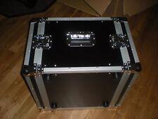 LARGE RACK FLIGHT TRAVEL CASE BOX, SPEAKER-AMP 24 X 21 X 15 BLACK