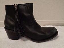 Baske California Black Distressed Amador bootie Leather boots SZ- 8.5