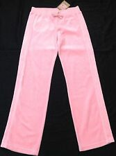 Nwt juicy couture new gen rose velours survêtement pantalon scotty chien logo fille 8 ans