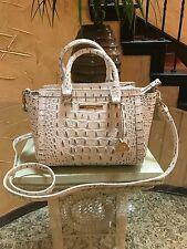 ❤️❤️NWT Brahmin Authentic Mini AnnA Satchel Shoulder Bag Stonewash Melbourne❤️❤️