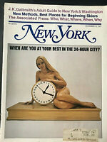 New York Magazine Body Time in The 24 Hour City   Clay Felker   November 15 1971