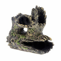 Aquarium Trunk Hollow Tree Hole Log Decor For Fish Tank Resin Ornaments